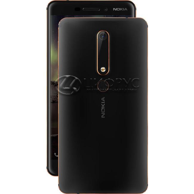 Купить Nokia 6 (2018) 64Gb Dual LTE Black в Москве – цена смартфона ... 2585ffd614f