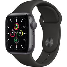 Apple Watch SE GPS 40mm Aluminum Case with Sport Band Grey/Black (MYDP2RU/A)