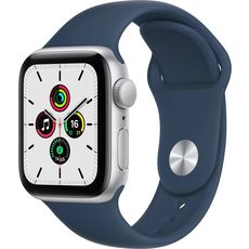 Apple Watch SE GPS 40mm Aluminum Case with Sport Band Silver/White (MYDM2RU/A)