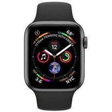 Apple Watch Series 4 GPS 40mm Aluminum Case with Sport Band grey/black - Цифрус