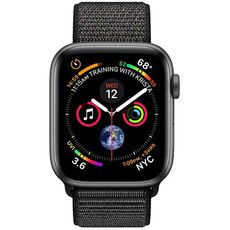 Apple Watch Series 4 GPS 40mm Aluminum Case with Sport Loop grey/black - Цифрус