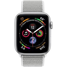 Apple Watch Series 4 GPS 40mm Aluminum Case with Sport Loop silver/white - Цифрус