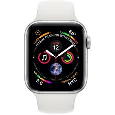 Apple Watch Series 4 GPS 44mm Aluminum Case with Sport Band silver/white - Цифрус