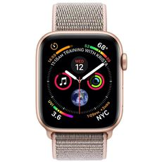 Apple Watch Series 4 GPS 44mm Aluminum Case with Sport Loop gold/pink - Цифрус