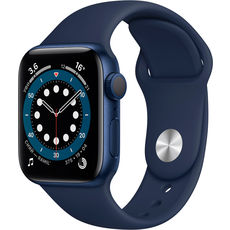 Apple Watch Series 6 GPS 40mm Aluminum Case with Sport Band Blue/Deep Navy (LL)