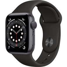 Apple Watch Series 6 GPS 40mm Aluminum Case with Sport Band Space Grey/Black (LL)