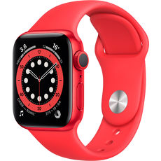 Apple Watch Series 6 GPS 44mm Aluminum Case with Sport Band Red (LL)