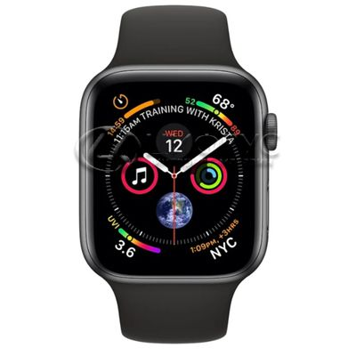 Apple Watch Series 4 GPS 44mm Aluminum Case with Sport Band grey/black - Цифрус