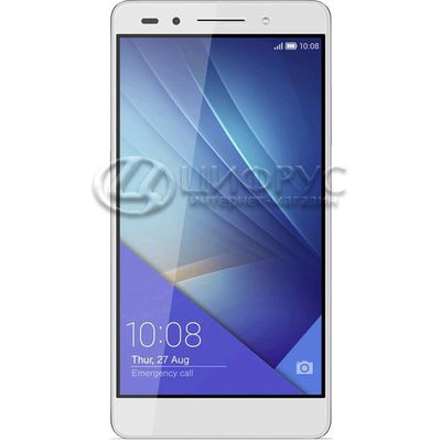 Huawei Honor 7 16Gb+3Gb Dual LTE White Silver - Цифрус