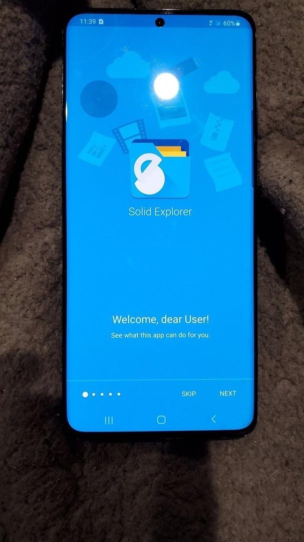 Эксклюзивная живая фотография Samsung Galaxy S20+ 5G.