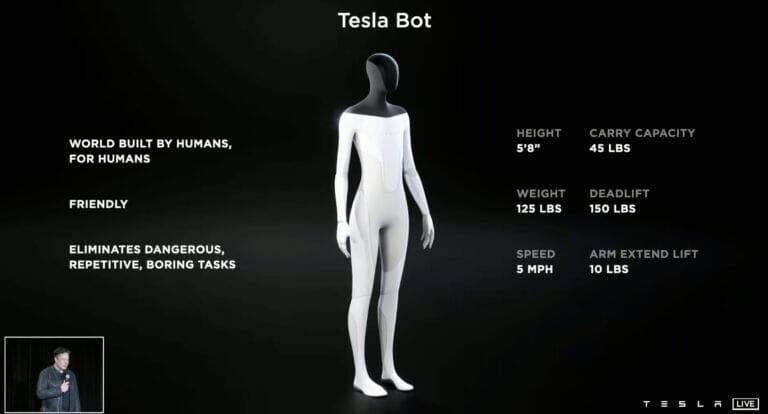 Илон Маск рассказал о новом гуманойдном роботе Tesla Bot.