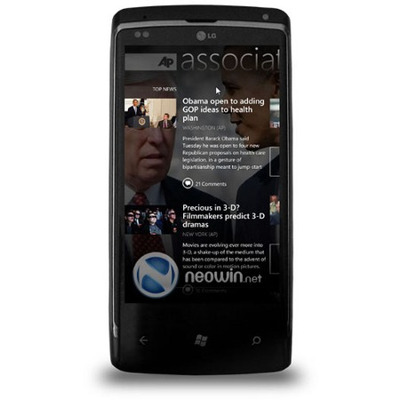 � ���� ��������� ����������� ��� ������ LG-��������� �� ����  Windows Phone 7