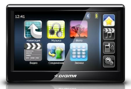 Digma DM500� - GPS-��������� � ������� 5-�������� �������� �  Bluetooth