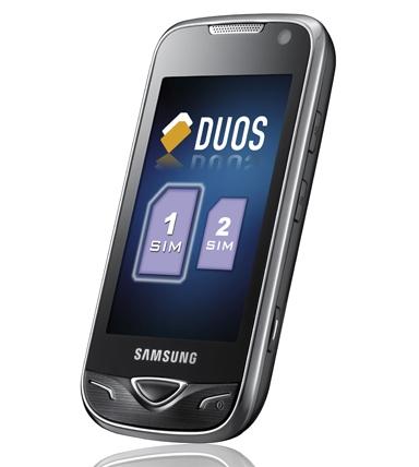 Samsung B7722 Duos - двухсимный телефон с 3,2-дюймовым экраном