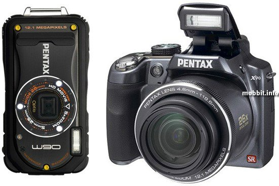 Pentax Optio  W90 и X90