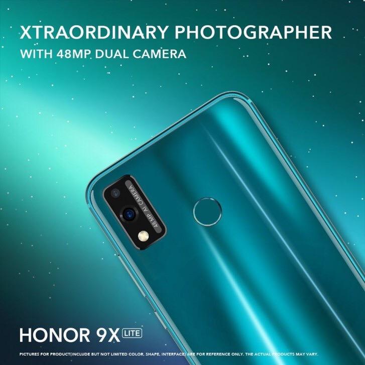 В сеть утёк рекламный баннер с Honor 9X Lite.